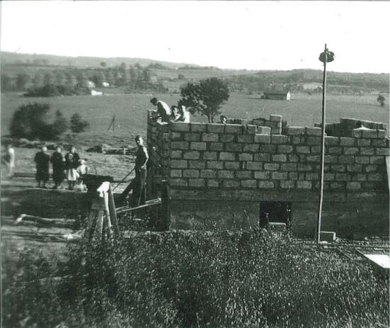 Photographie de chantier, automne 1953
