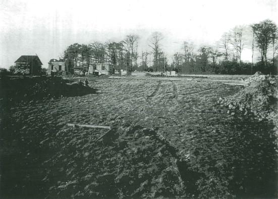 Photographie du chantier prise en 1954